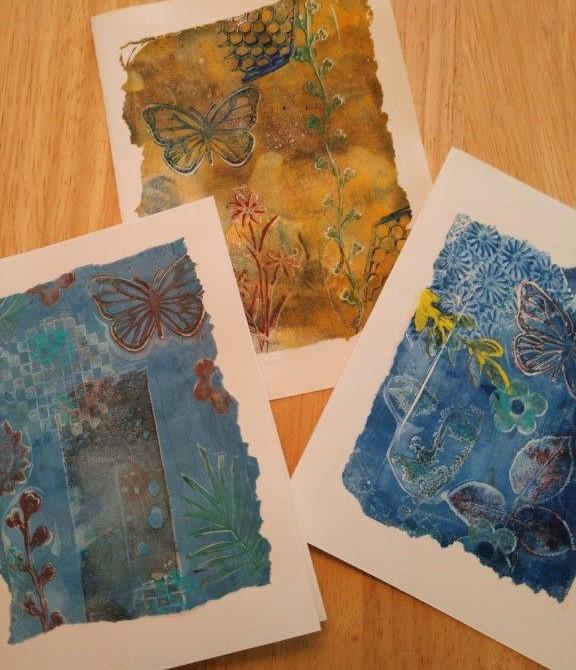 Dilia Salvador monoprint cards