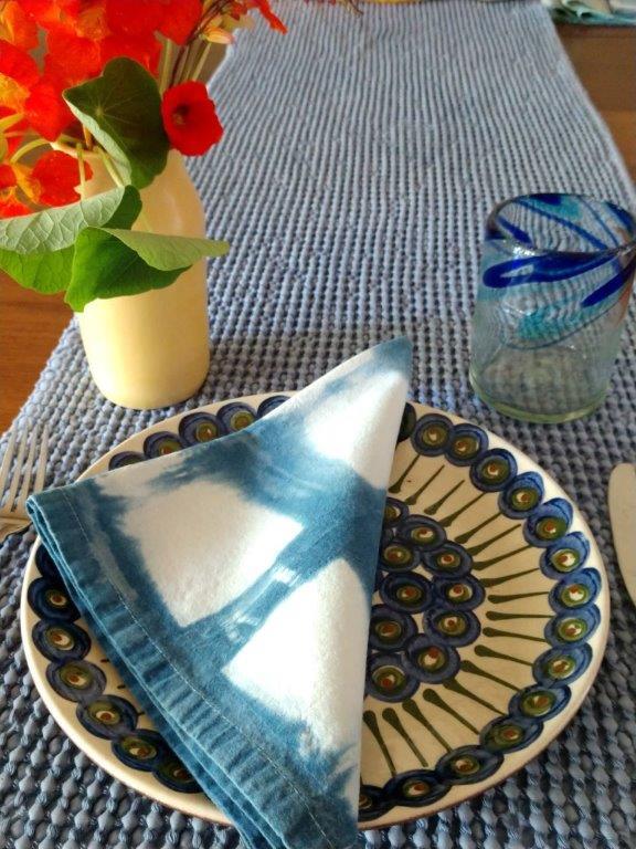 Indigo Blues Shibori Napkin reduced size