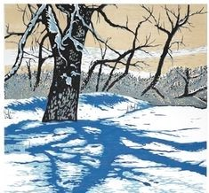 Theresa Haberkorn card-Tree shadow on snow-cropped