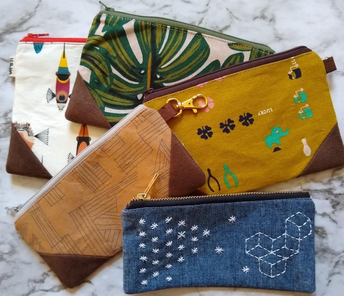 Wren Design-Sarah Wilson Zippered Pouches